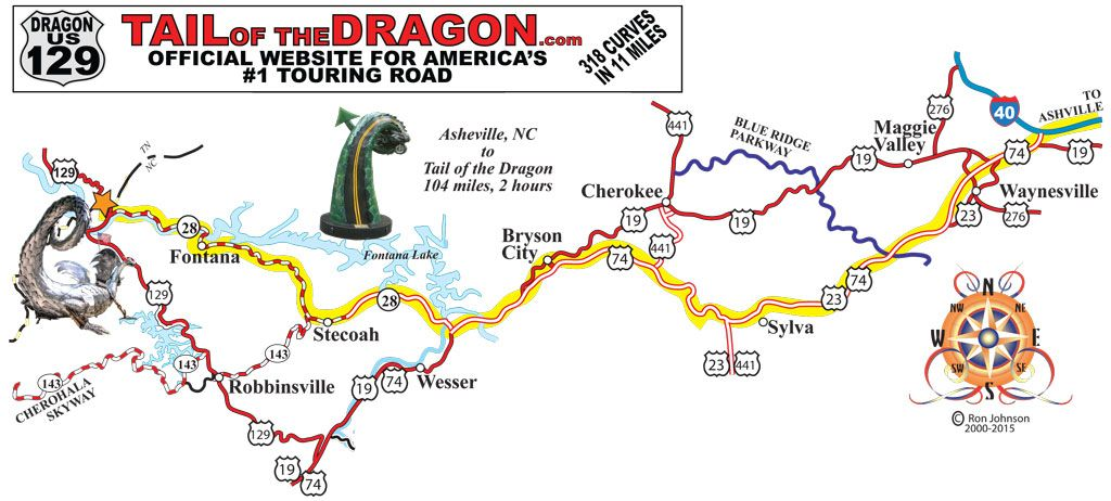 Dir fr Asheville NC Tail of the Dragon Maps