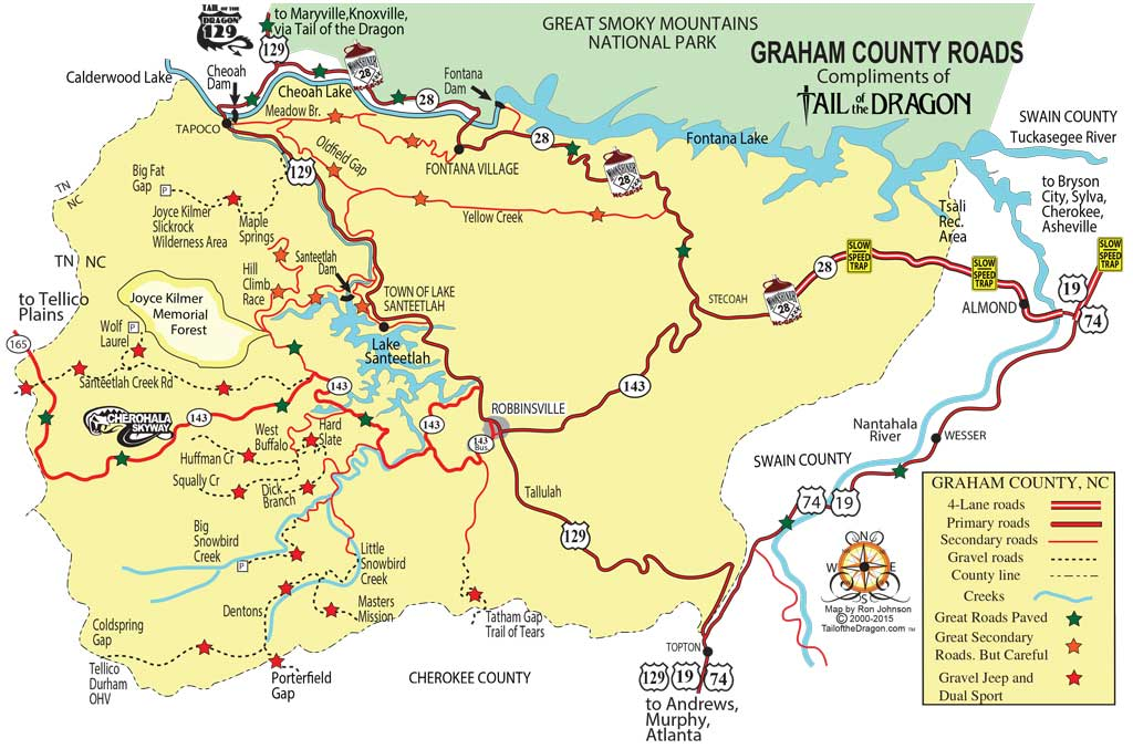 Tail of the Dragon Maps – Motorcycle and sportcar touring ...