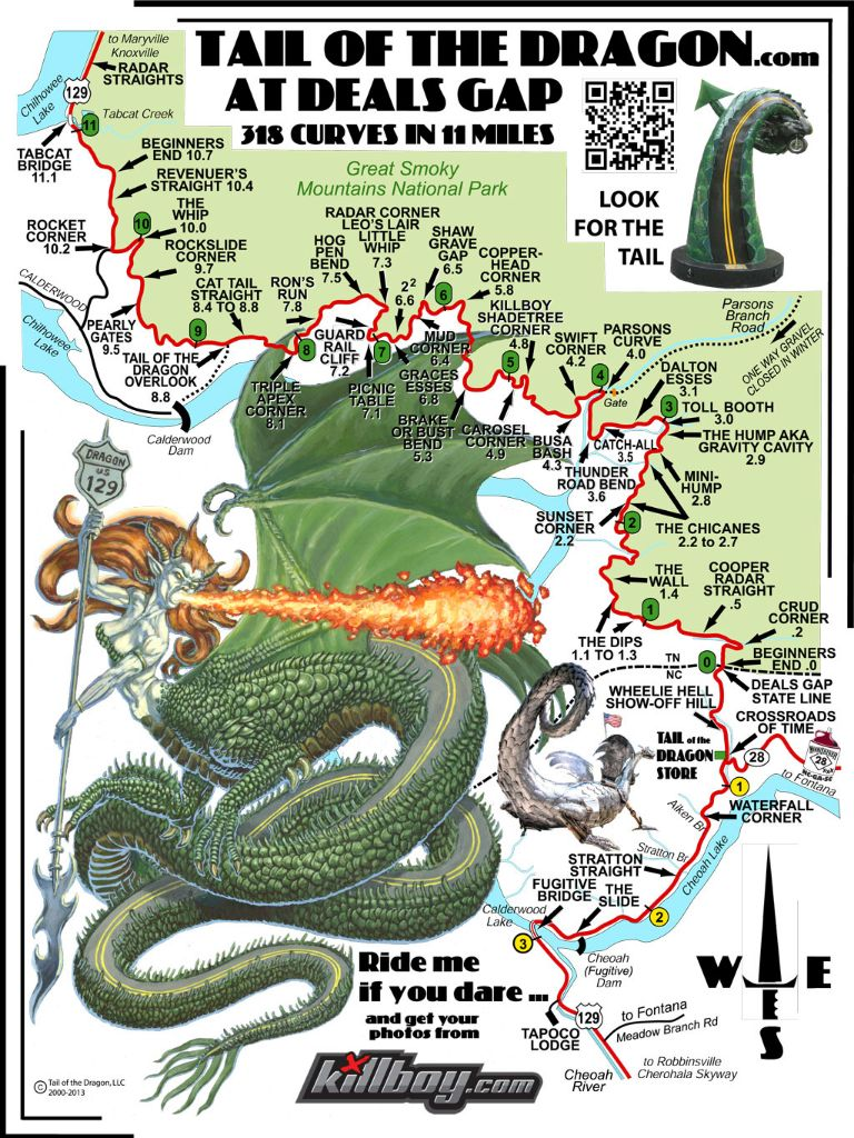 Tail Of The Dragon Photos >> Tail Of The Dragon Map Tail Of The Dragon Maps