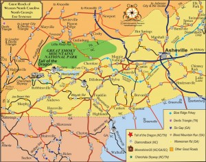 Six Gap North Georgia – Tail of the Dragon Maps