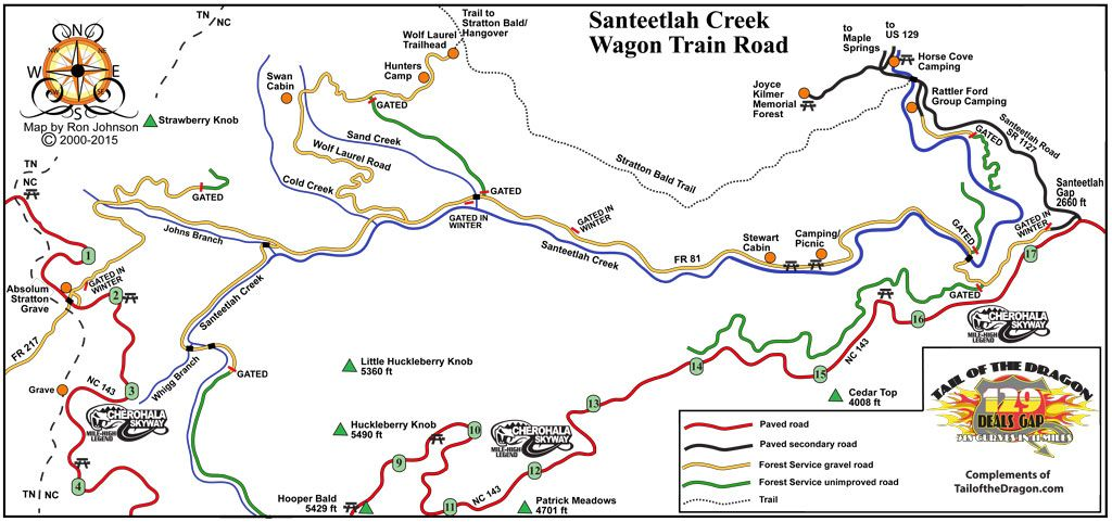 Gravel Wagon Train Road – Tail of the Dragon Maps