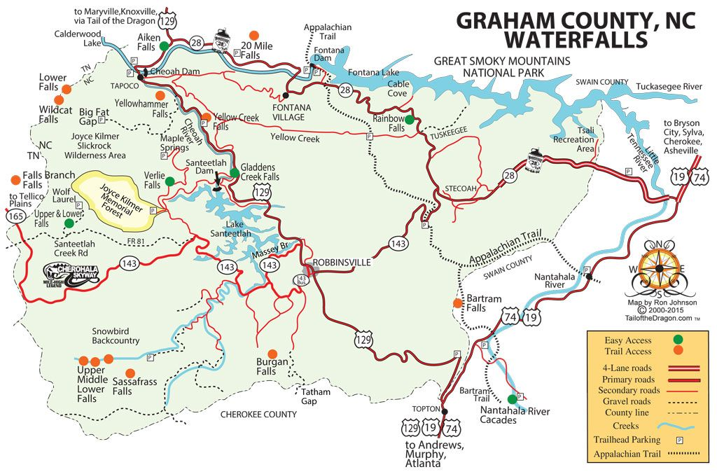 Graham County Waterfalls – Tail of the Dragon Maps